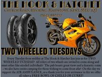Two Wheeled Tuesdays at The Hook & Hatchet Inn