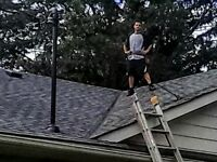 25 hours / week clean up after Roof Installation.