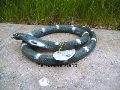 Schlange Kobra Snake serpente serpiente grün weiß Gummi ca. 80 cm lang