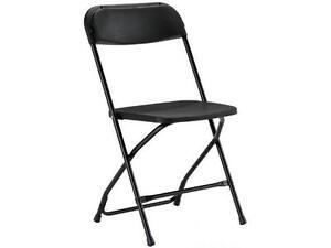 Location de chaises pliante noir