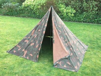 Hungarian Army Surplus Camouflage Canvas Two Man Tent Bushcraft Poncho Prepping