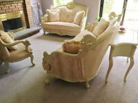 Downsizing! French Provincial Style Couch (only 10 month old)