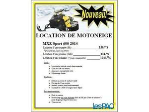 Location de Motoneige Ski-Doo Mxz 600 sport 2015-2016 1-2 place