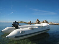 New 10.5 ft Inflatable Boat Aluminum Floor Dinghy Z Ray II 400