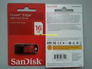 BRAND NEW in packaging Sandisk Cruzer Edge 16GB flash usb drive