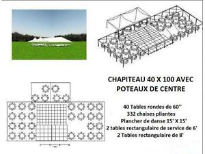 Location de chapiteau 40 X 100