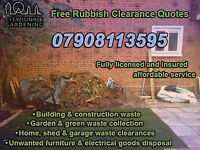 Household, Garden, Building & Office Rubbish Collection Services | Free Quote 24/7 Call 07908113595