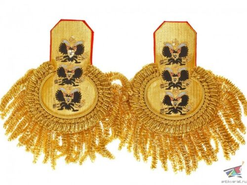 Russian Navy Guards Officers dress Epaulettes Admiral Rare-Admiral Vice-Admiral