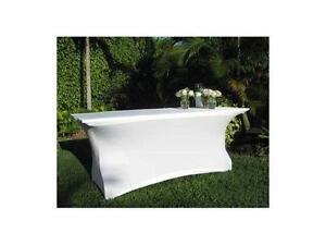 Couvre table pliante de 6 pieds en lycra (spandex)