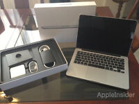 Macbook Pro 13 Retina 3.4Ghz i5/8GB/256Gb Flash IRIS HD6100 Gfx Magsafe 2 Boxed As New!!