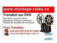 Transfert de cassettes vidéo sur DVD