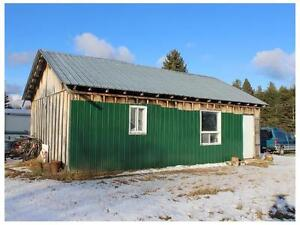 11 acres land with Garage 30 'by 20',Ideal to build a Hobby Farm