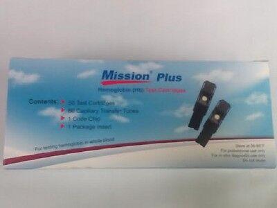 50 Brand New Acon Mission Plus Hemoglobin Tests