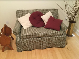 Loveseat and cushions