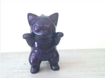 Japanese Mini Vinyl - KONATSU MINI NEGORA MIGORA JAPANESE VINYL BLACK PEARL PURPLE CAT KAIJU SOFUBI