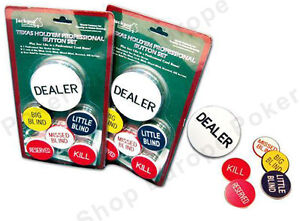 Texas Holdem Poker Buttons Blinds Dealer Button Blind Ebay