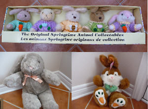 Variety of Brand New Plush Easter Bunnies & Critters