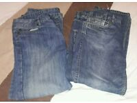2 pairs of mens jeans 32/30