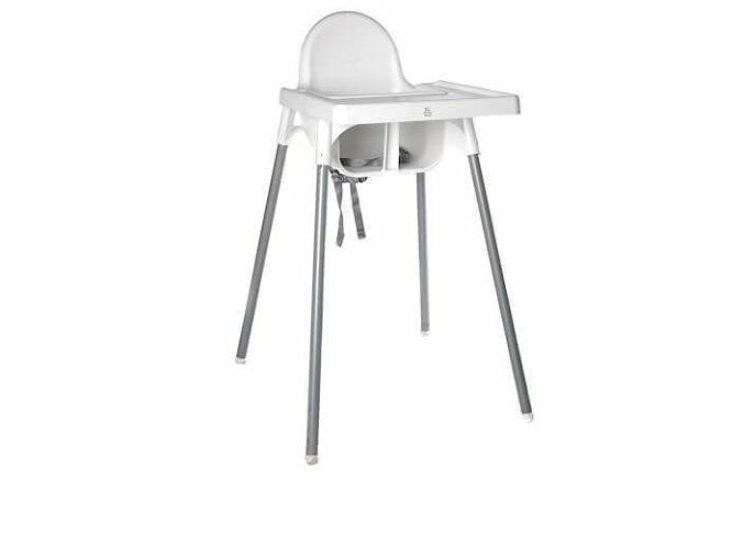 Ikea Antilop Highchair with Tray, Safety Belt, WhiteSilver Colour   in Sheffield, South Yorkshire   Gumtree