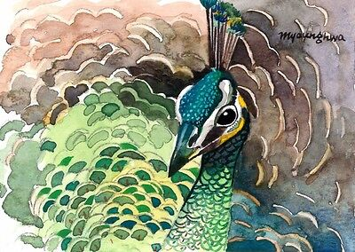 ACEO Limited Edition - A closer look, Bird art, Gift for bird lovers