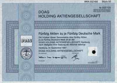 DOAG 1987 Ostafrika Kolonial Berlin Hamburg VDN 2500 DM Mittellandbahn Mafia