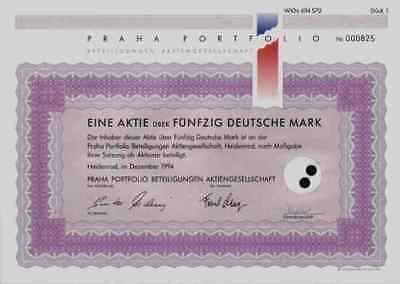 PRAHA Portfolio 1994 Heidenrod Wiesbanden ESP Tschechien 50 DM European Broker