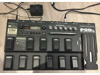 Line 6 POD XT Live Multi Guitar Effects Pedal & Power Supply