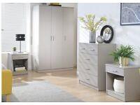 Panama 4pc bedroom set grey