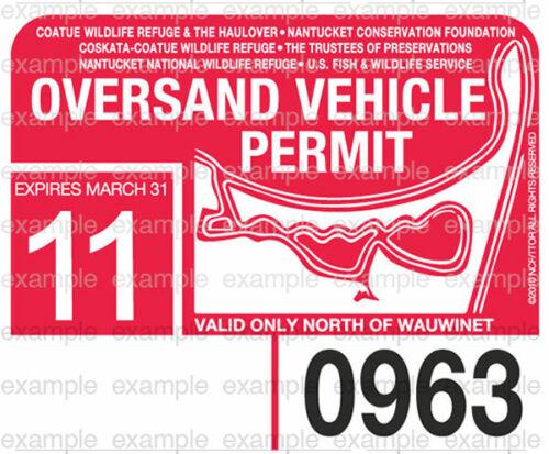 2011 Nantucket Oversand Vehicle Permit - ACK Beach Sticker Decal Great Point