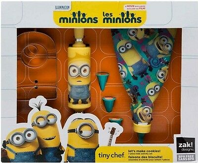 Kids Baking Set Minions Real Cooking Fun Cookie Cutter And Baking Tools 7 Pc Kit](Minion Cookie Cutter)