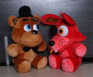 Five nights at freddys game freddy foxy plush toy kid xmas gift 2pcs