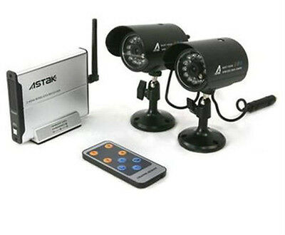 Wireless Security Surveillance Camera Kit Indoor/Outdoor – Set of 2