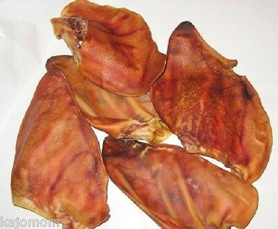 Natural Dental Chews - FRESH USA All-Natural Full PIG EARS Dog Treats JUMBO Chews Bulk Dental LARGE