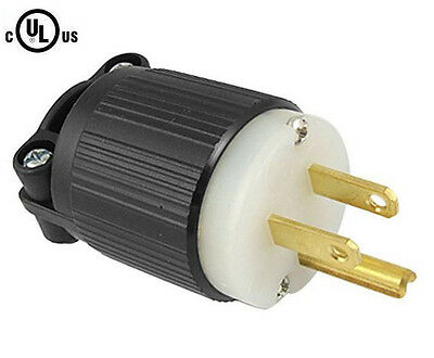 515PR Plug, 5-15P 15A 125V Straight Blade Male Plug, Commerc