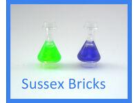 Erlenmeyer Flask NEW r1 Lego Hidden side Trans-Clear Minifigure Utensil Bottle