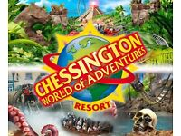 Chessington full entry tickets Wednesday 18th April