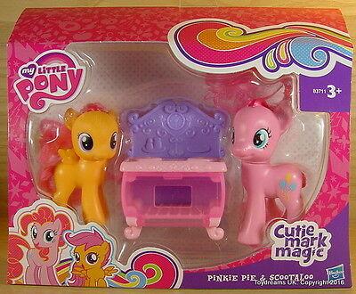 My Little Pony G4 Cutie Magic Mark PINKIE PIE & SCOOTALOO Twin Pack Gift Set!