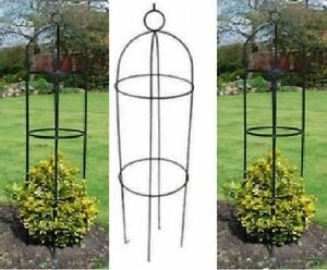 NEW GARDEN OBELISK CLIMBING PLANT FLOWERS STEEL FRAME EASY ASSEMBLY GROW  SUPPORT