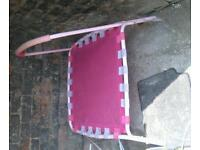 Gorgeous pink trampoline