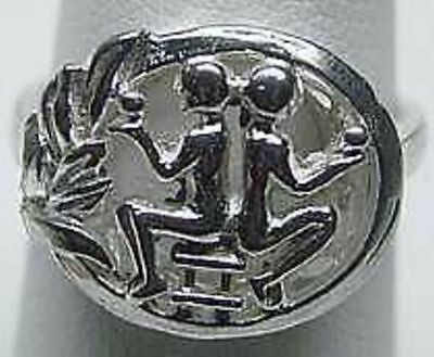- COOL GEMINI Zodiac Astrology sign Jewelry ring Sterling Silver Twins Jewelry