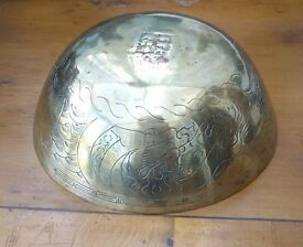 Antique Chinese Brass Bowl