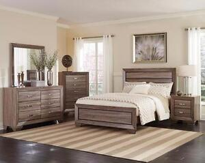 5 pi Queen Bedroom Set - Washed taupe