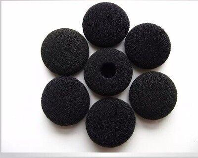 10 Pairs 13-18mm Black  Foam Cushion Ear Pad Cover Earphone Headphone Earbud New
