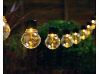 10 LED Glass Bulb String Lights