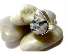 NEW Large Ocean Jasper Gemstone & Sterling Silver Unisex Ring North Melbourne Melbourne City Preview
