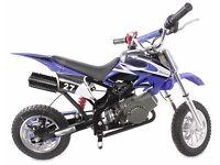 NEW 50CC KIDS MINI MOTO DIRT BIKE SCRAMBLER OFF-ROAD MOTORBIKE~2016 MODEL~BLUE
