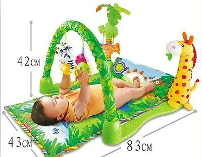 Tropical Jungle Baby Gym Crawl & Play Soft Activity Musical Lullaby Mat 3059