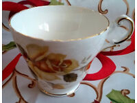 regency bone china rose cups