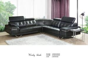 Lord Selkirk Furniture - Wendy - 4PC Sectonal in Leather Gel Color Brown - $1699.00