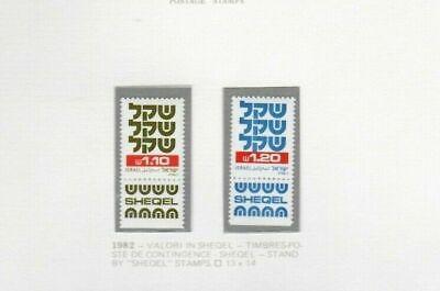 S27898) Israel MNH 1982 Definitive 1, 10+1, 20 2v